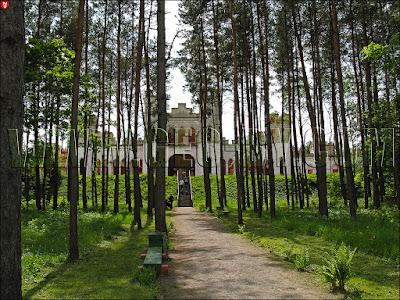 Коссово (Меречевщина). Дворец Пусловских в лесу