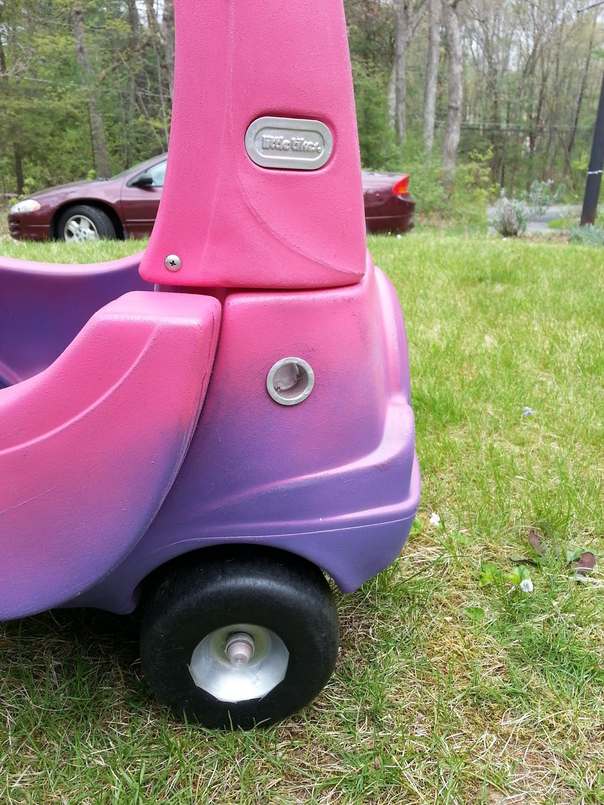 Our Cozy Coupe was a hand-me-down from a neighbour, so it could definitely do with a remodel, although keeping my son away from it for a day or two may be a struggle! Eschelle says September 2, at am.