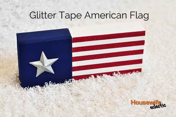 Glitter Tape American Flag