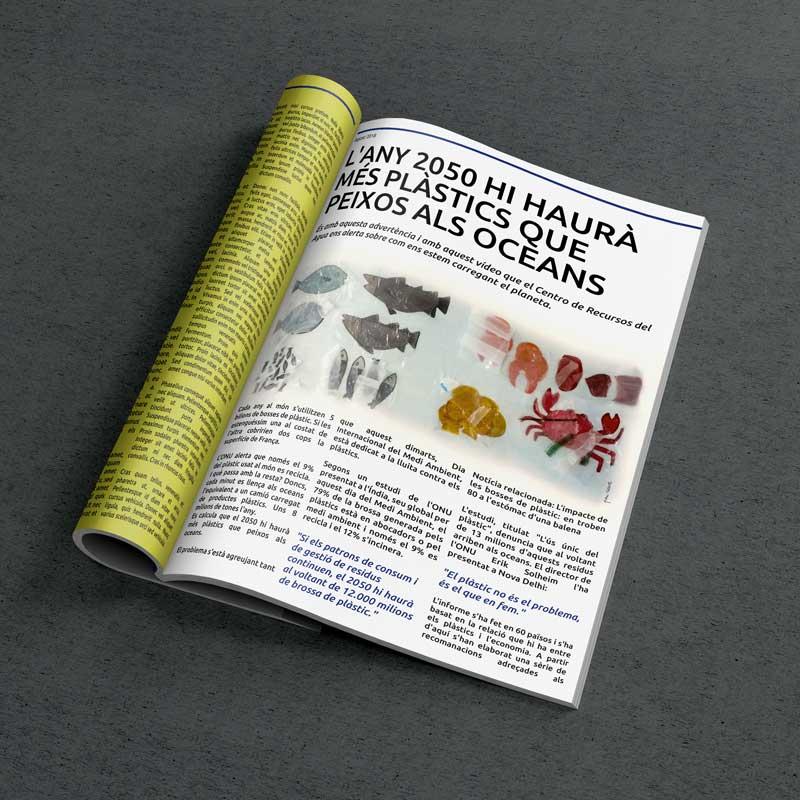 """Il·lustració editorial """"Mar de plàstic"""""""