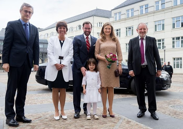 Hereditary Grand Duke Guillaume and Hereditary Grand Duchess Stéphanie of Luxembourg