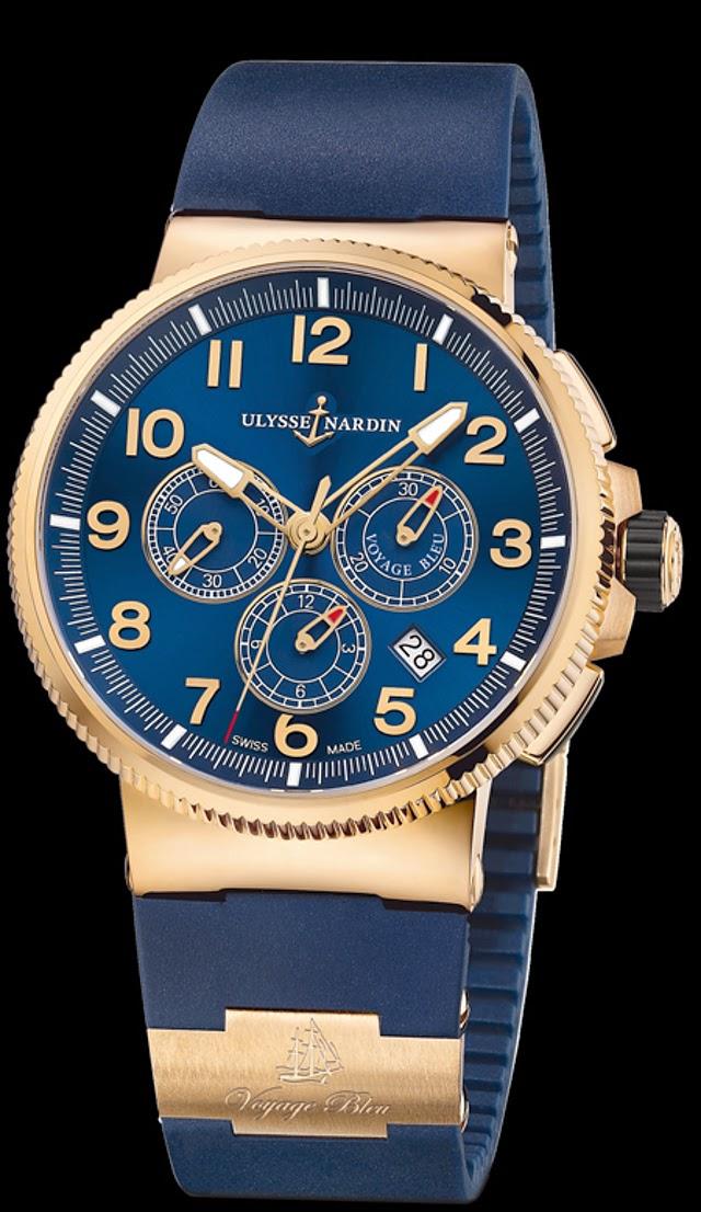 Ulysse Nardin Marine Chronograph Manufacture Voyage Bleu2