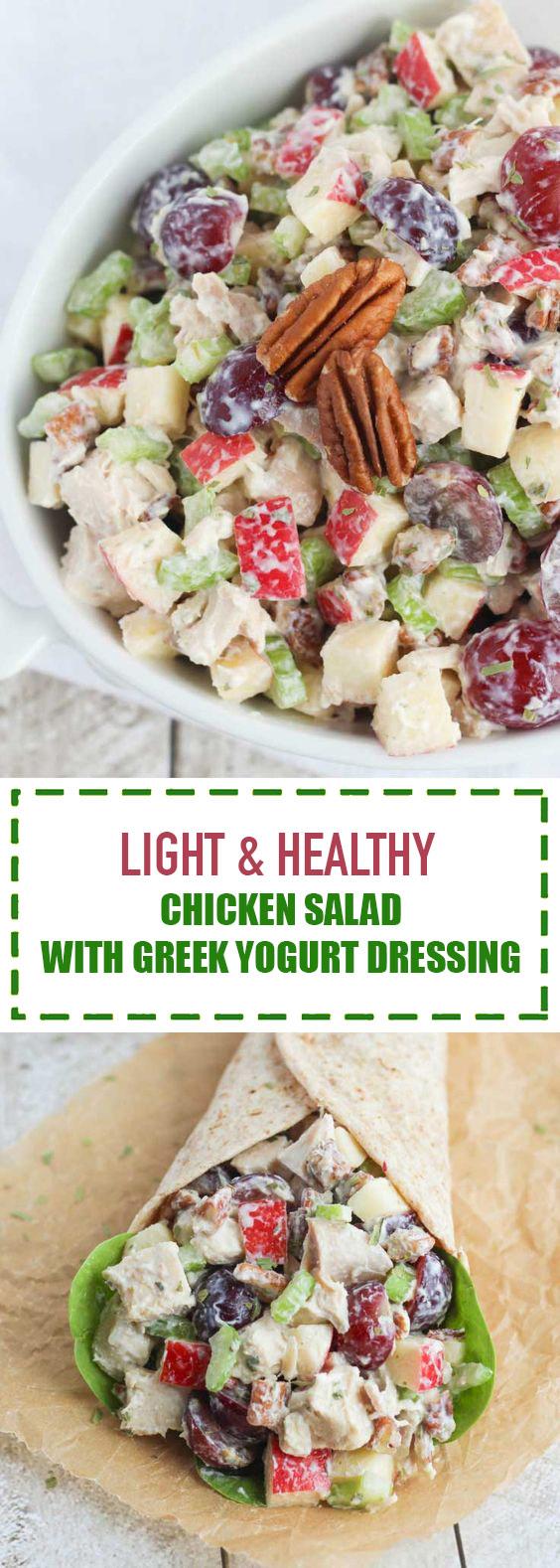 Light & Healthy Chicken Salad with Greek Yogurt Dressing