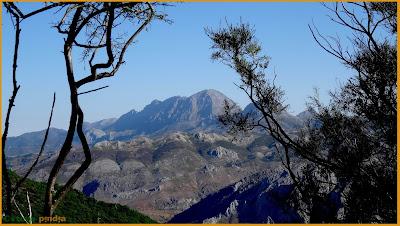Mirada a Peña Ubiña durante la ruta al Pico Cáscaros.