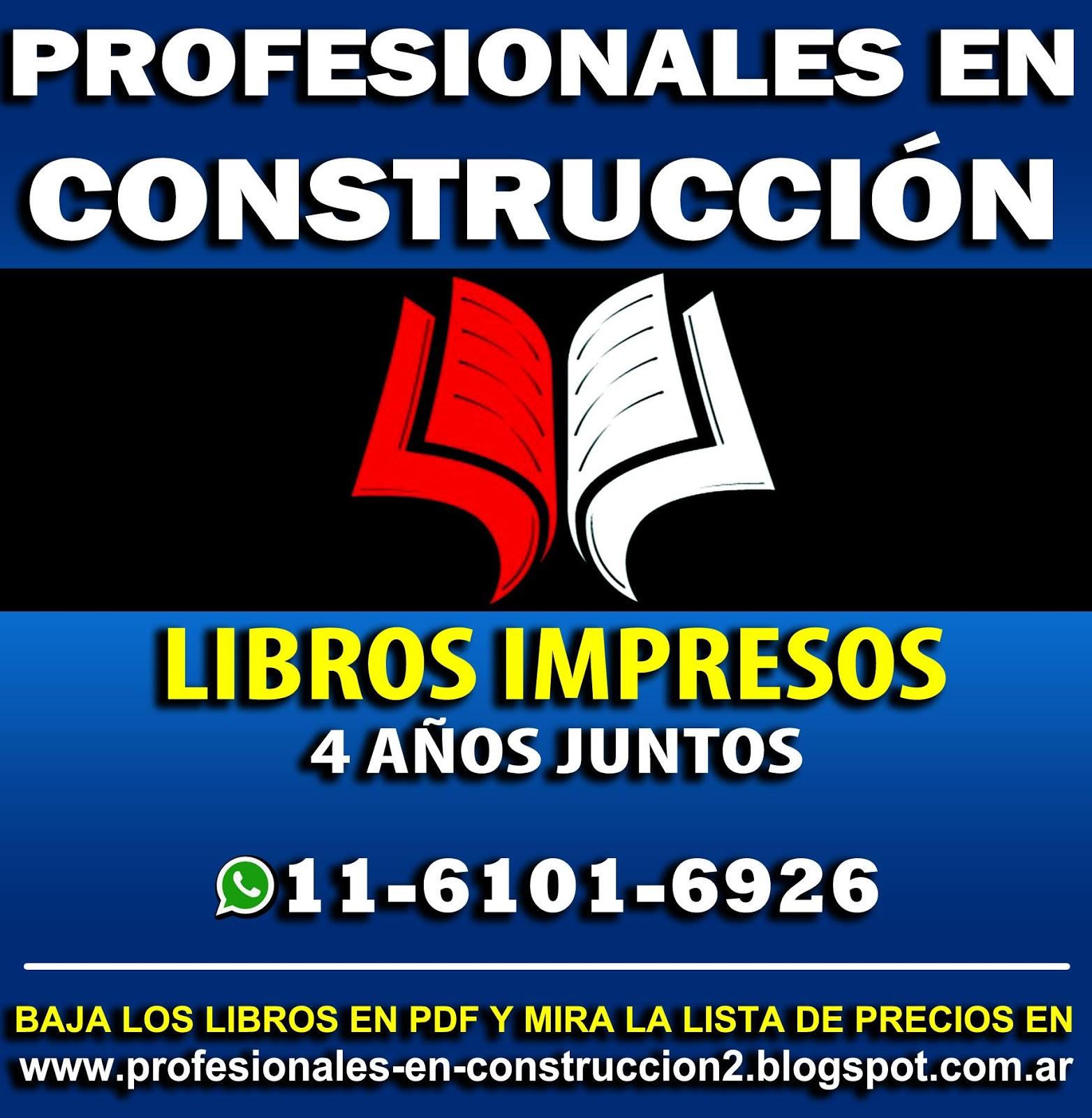 Profesionales en Construcción: Listado de Libros