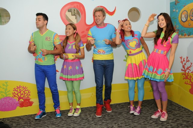 Hi-5 Making special appearance at the pre-opening of Hi-5 House Of Learning