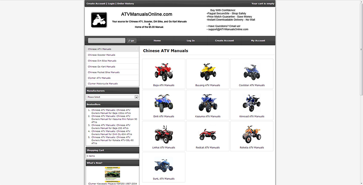 Chinese ATV Owners Manuals