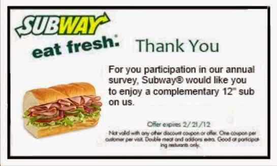 coupons for subway canada