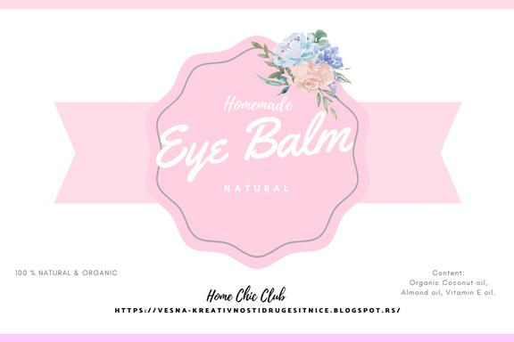 label for eye balm