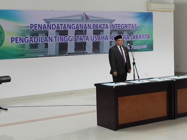Penandatanganan Pakta Integritas dan Pelantikan Pejabat Baru PTTUN Jakarta