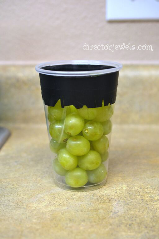 """Grapenstein"" Frankenstein Healthy Halloween Non-Candy Treat Idea"