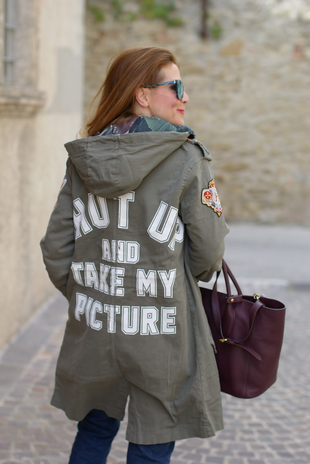 Shut up and take my picture parka jacket on Fashion and Cookies fashion blog, fashion blogger style