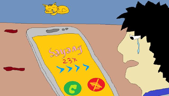 pacar lama membalas pesan atau telepon