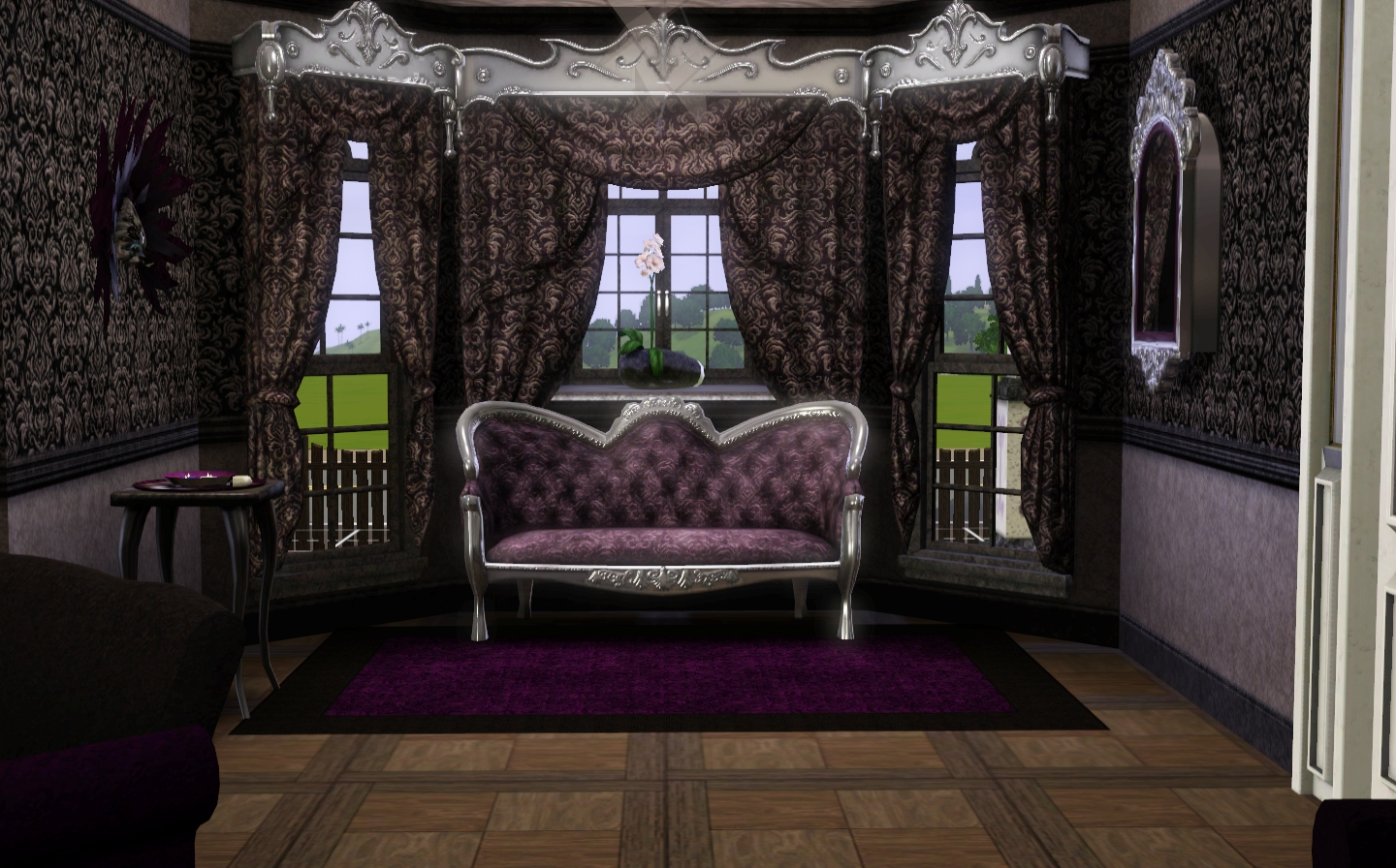 breathtaking victorian gothic living room   Yoteamo Sims: Madle Moss - Modern Gothic WIP update