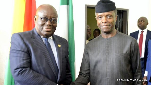 Osinbajo welcomes Ghanaian President