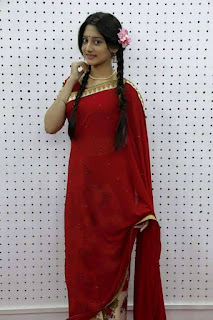 Puja Cherry Roy Sexy In Red Saree