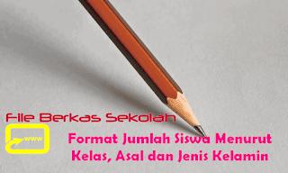Format Jumlah Siswa Menurut Kelas, Asal dan Jenis Kelamin