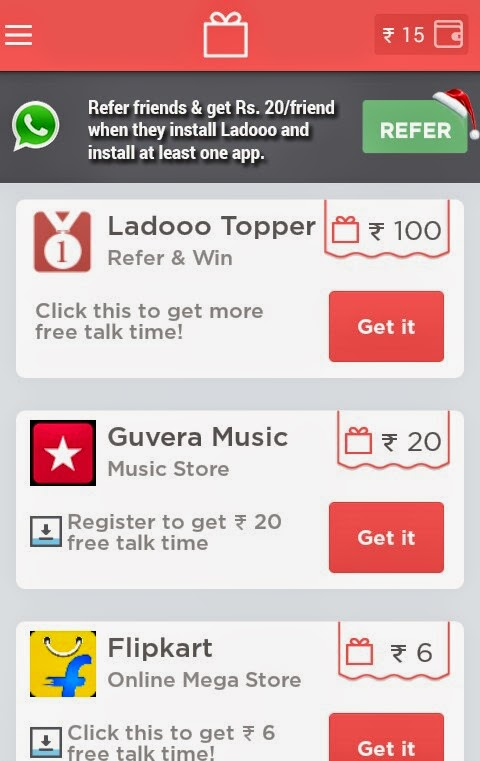 Ladooo App is Giving Rs 20 Per Referral