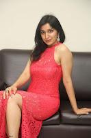 Sakshi Kakkar in Red Legsplit Sleeveless Gown at Dare movie Press meet ~  Exclusive 026.JPG