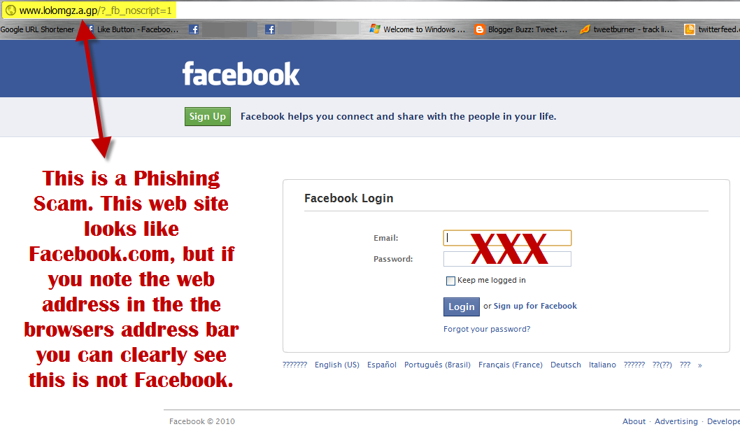 what s a phishing site