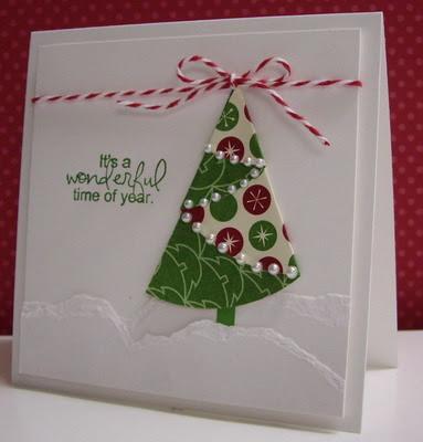 folded christmas tree - Folded Christmas Cards