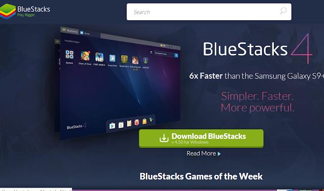 Emulator Blue Stacks PUBG