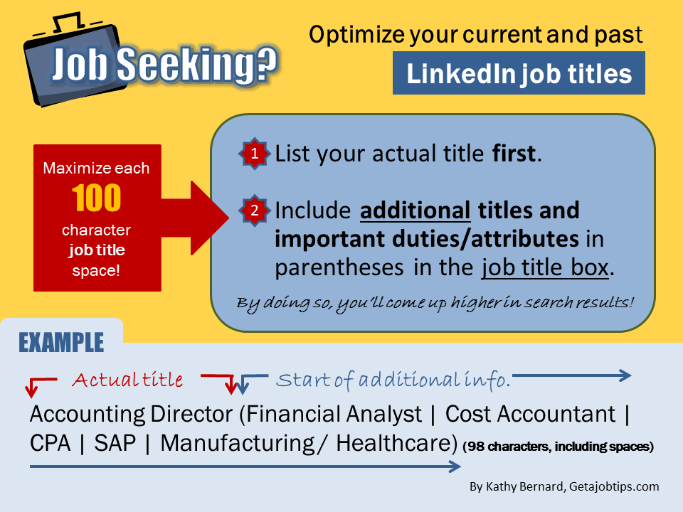 LinkedIn job title, optimizing your LinkedIn job title, how to optimize your LinkedIn job title,