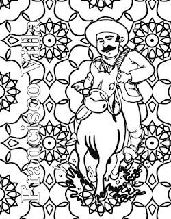 Mandala de Pancho Villa para colorear | Mandala del 20 de noviembre