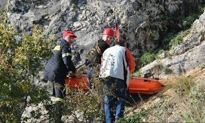 Νεκρός εντοπίστηκε ο 70χρονος που είχε πέσει σε γκρεμό