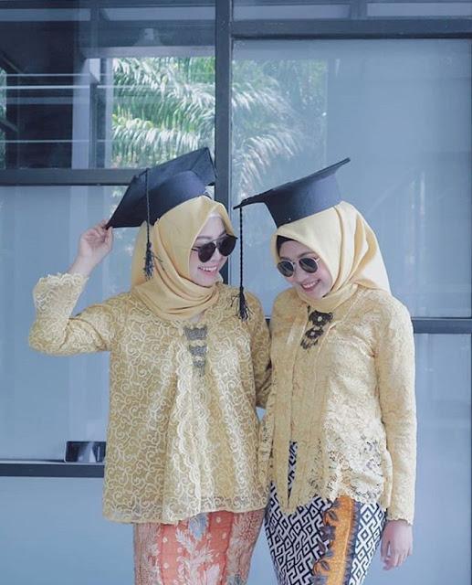 model hijab wisuda untuk pipi tembem terbaru