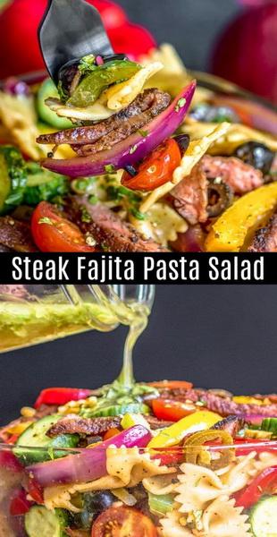 Steak Fajita Pasta Salad Recipe