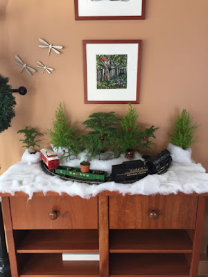 Christmas Train display at St. Croix Chocolates