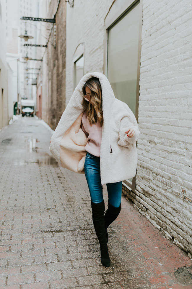 How to Style a Teddy Coat, Best Teddy Coat, Teddy Coat Style Steal, Jennifer Worman, Teddy Coat Chicago