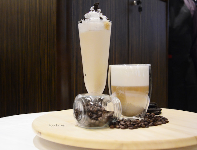Cookies and Vanilla Cream flavoured latte