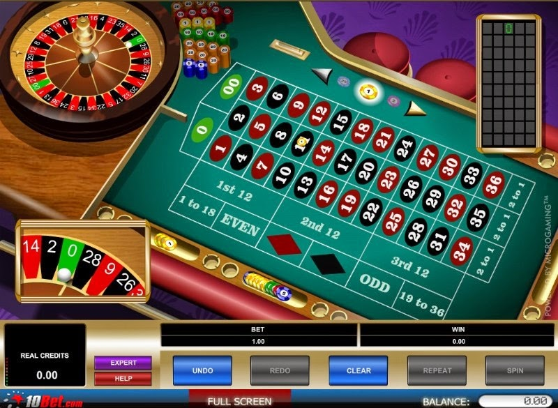 10Bet Casino Roulette Screen