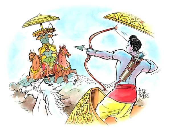 Ram And Ravan Dussehra Images