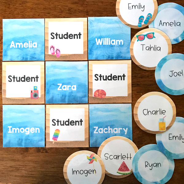 Editable Beach Themed Classroom Labels and Signs | you clever monkey