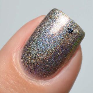 taupe holo nail polish