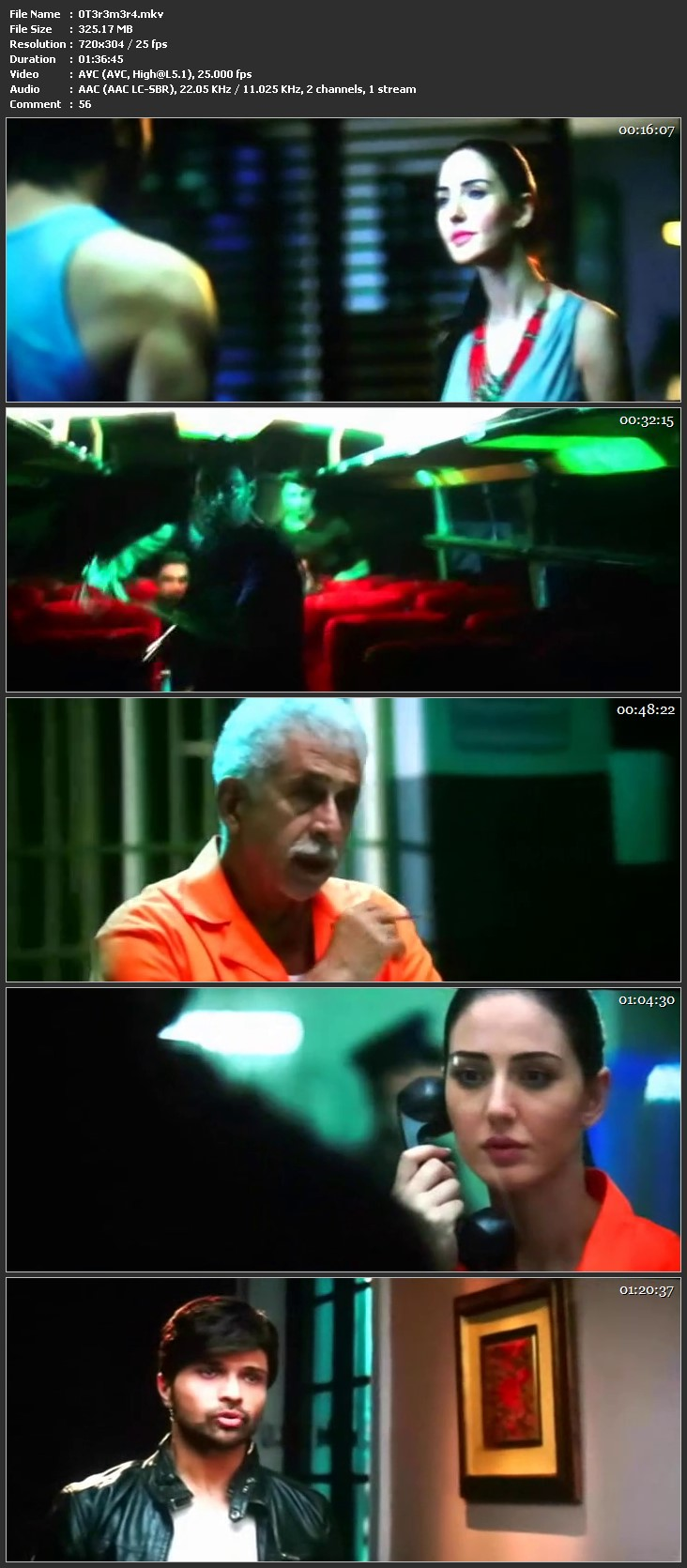 Screen Shot Of Hindi Movie Watch Online Teraa Surroor 300MB DVDScr Full Movie Free Download