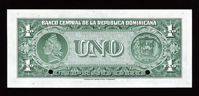 Currency money dominican peso banknote