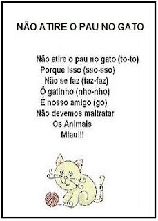 Música não atire o pau no gato