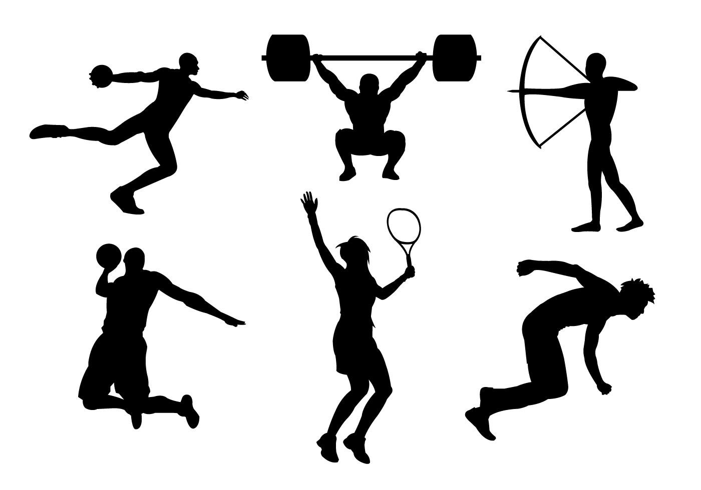 спортсмены картинки в векторе