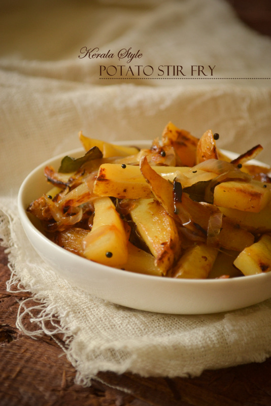 Kerala vegetarian recipes kurryleaves potato stir fry forumfinder Image collections