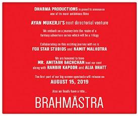 Brahmastra Upcoming movie in 2019, Amitabh Bachchan, Ranbir Kapoor and Alia Bhatt New upcoming Brahmastra movie Poster, Release date, star cast