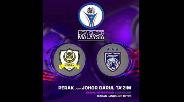 Live Streaming Perak vs JDT 18.2.2017 Liga Super