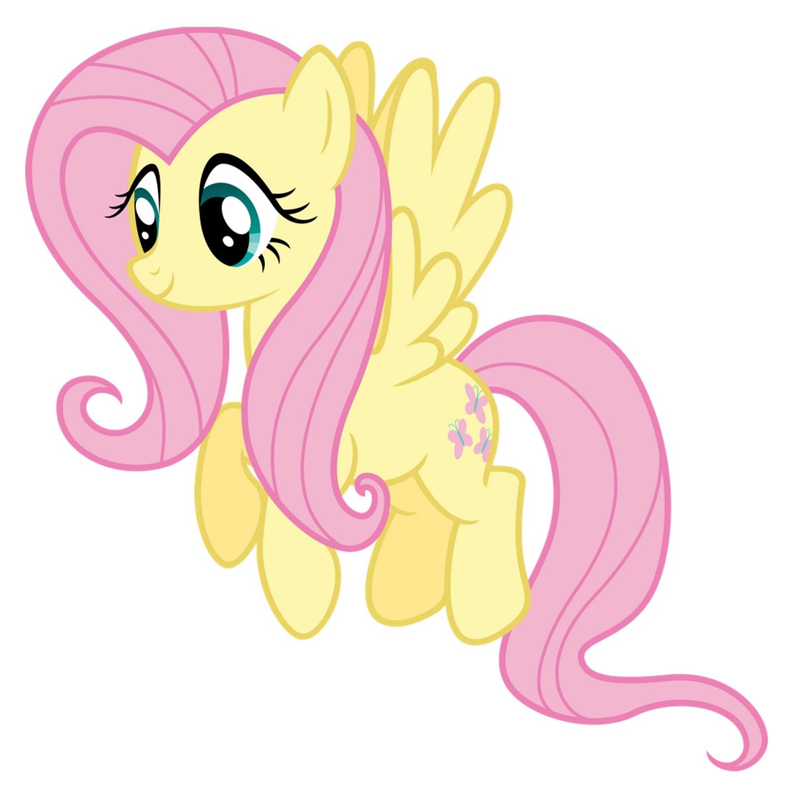 My Little Pony Dibujos para imprimir y recortar de Fluttershy