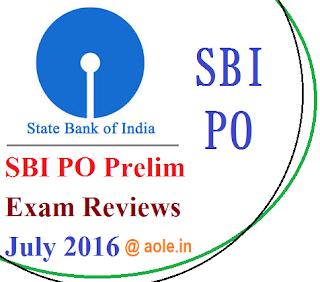 SBI PO Prelim Exam Reviews 2016