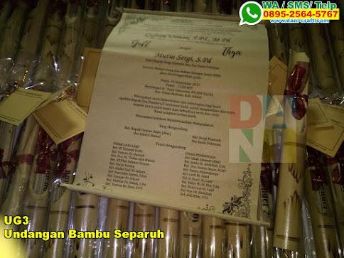 Harga Undangan Bambu Separuh