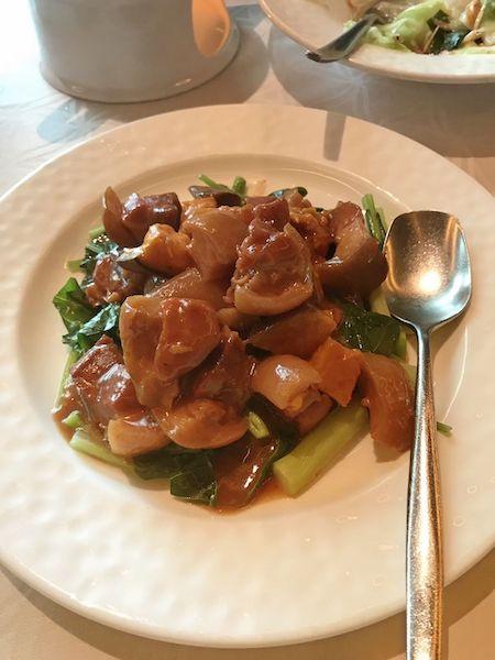 欣葉の豚料理