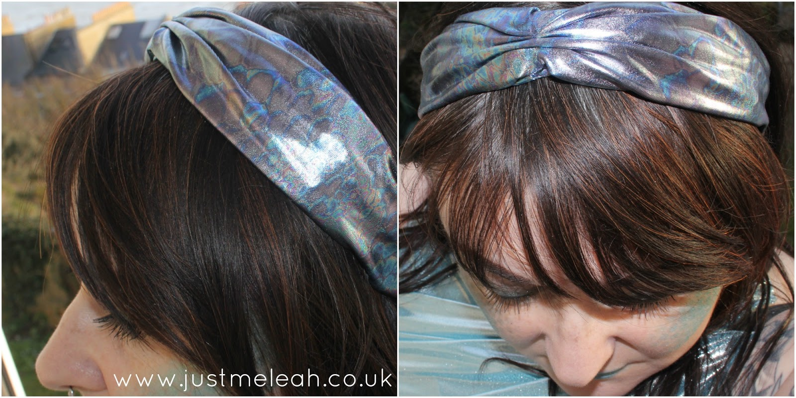 Crown & Glory metallic fish scale print turban